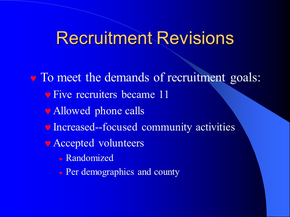 Recruitment Revisions