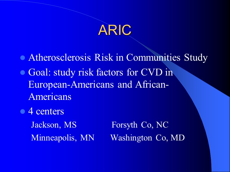 ARIC Atherosclerosis Risk in Communities Study
