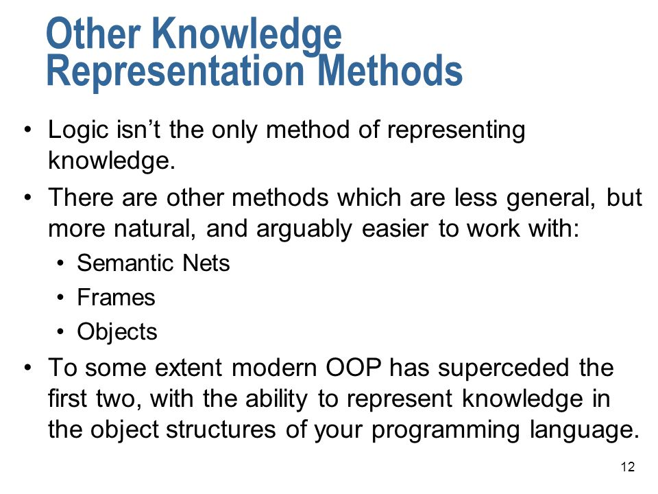 Other Knowledge Representation Methods