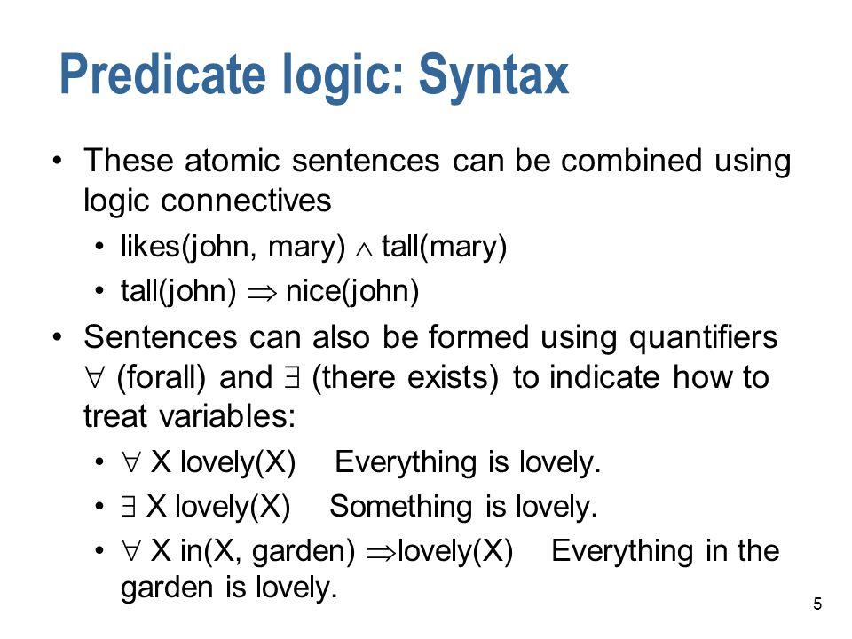 Predicate logic: Syntax