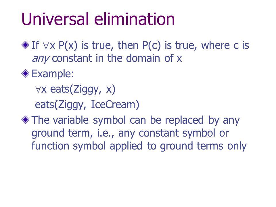 Universal elimination