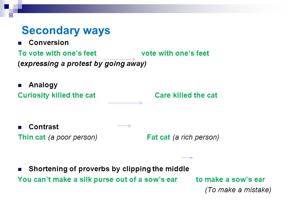 Secondary ways Conversion To vote with one's feet vote with one's feet