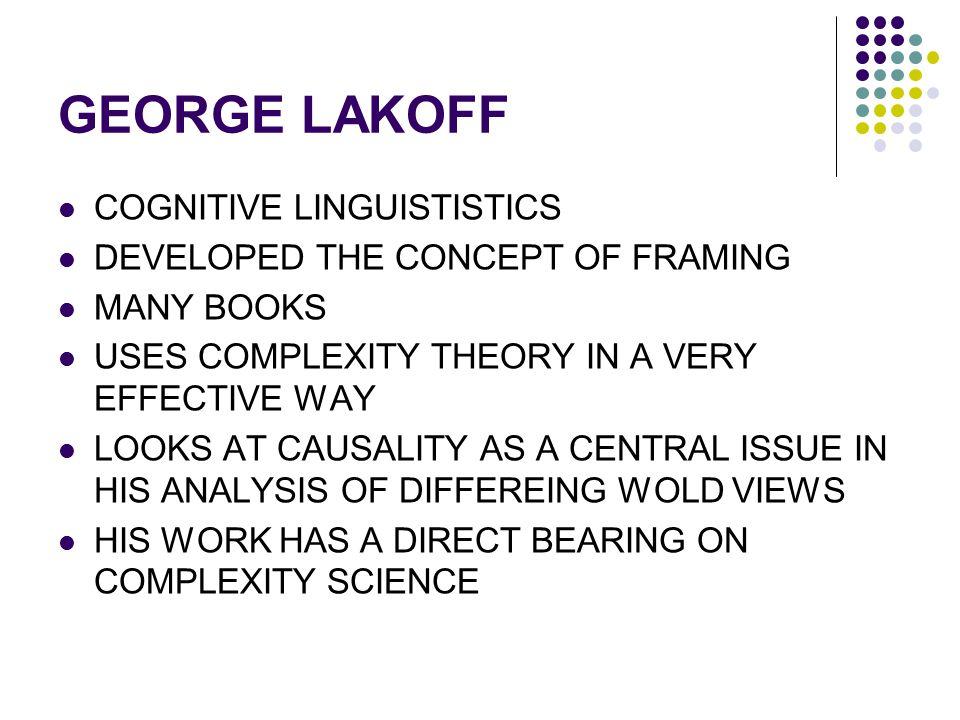 GEORGE LAKOFF COGNITIVE LINGUISTISTICS