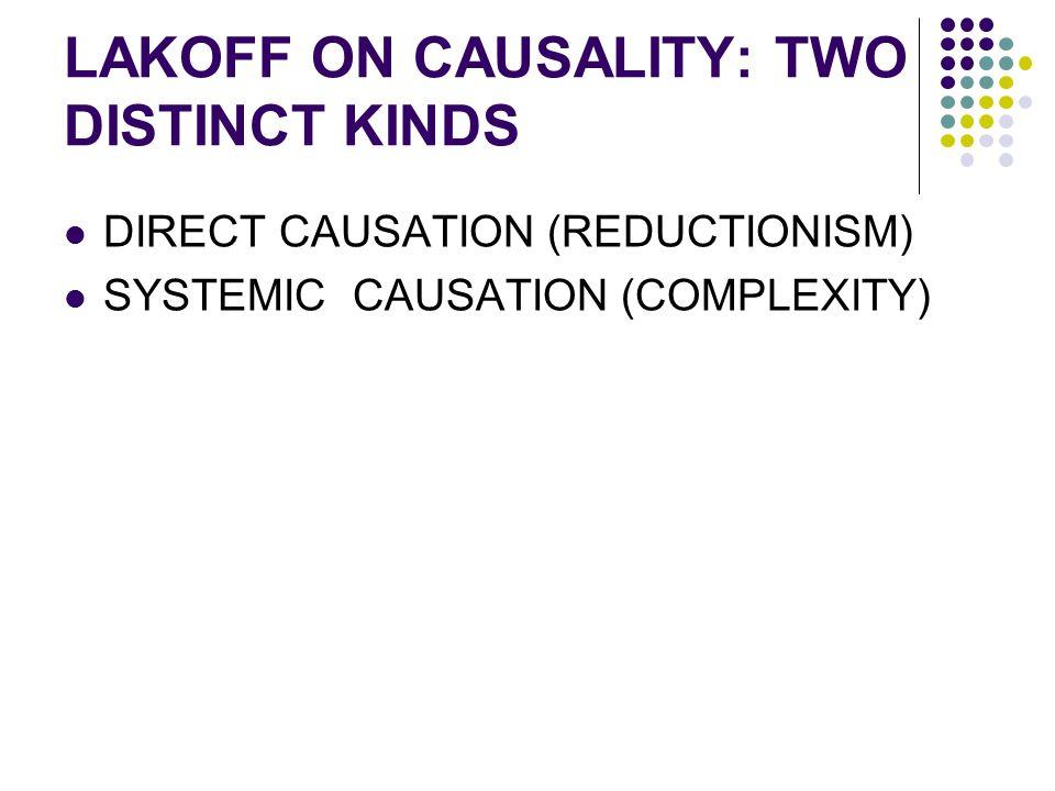 LAKOFF ON CAUSALITY: TWO DISTINCT KINDS