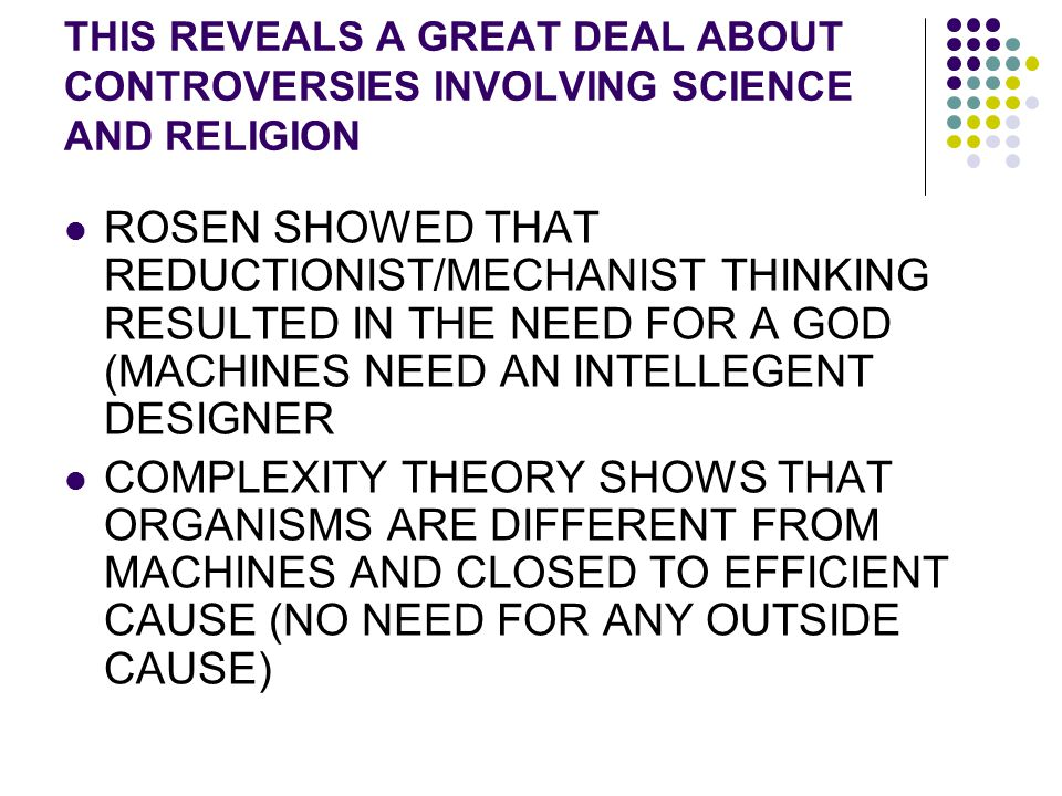 THIS REVEALS A GREAT DEAL ABOUT CONTROVERSIES INVOLVING SCIENCE AND RELIGION