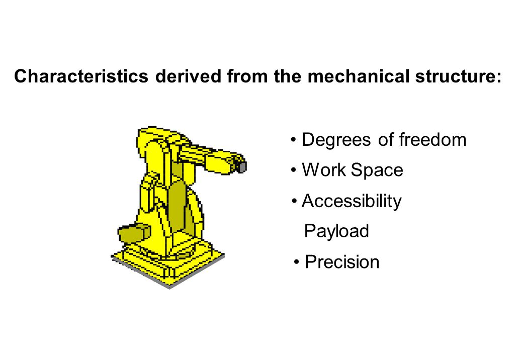 Characteristics derived from the mechanical structure: