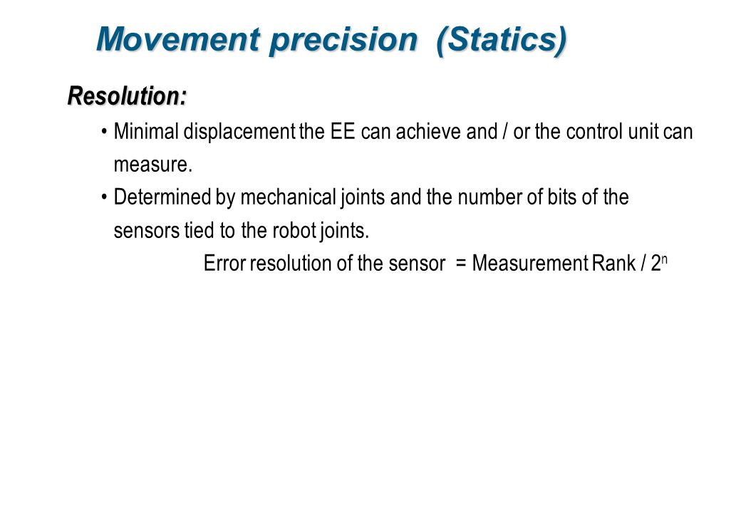 Movement precision (Statics)