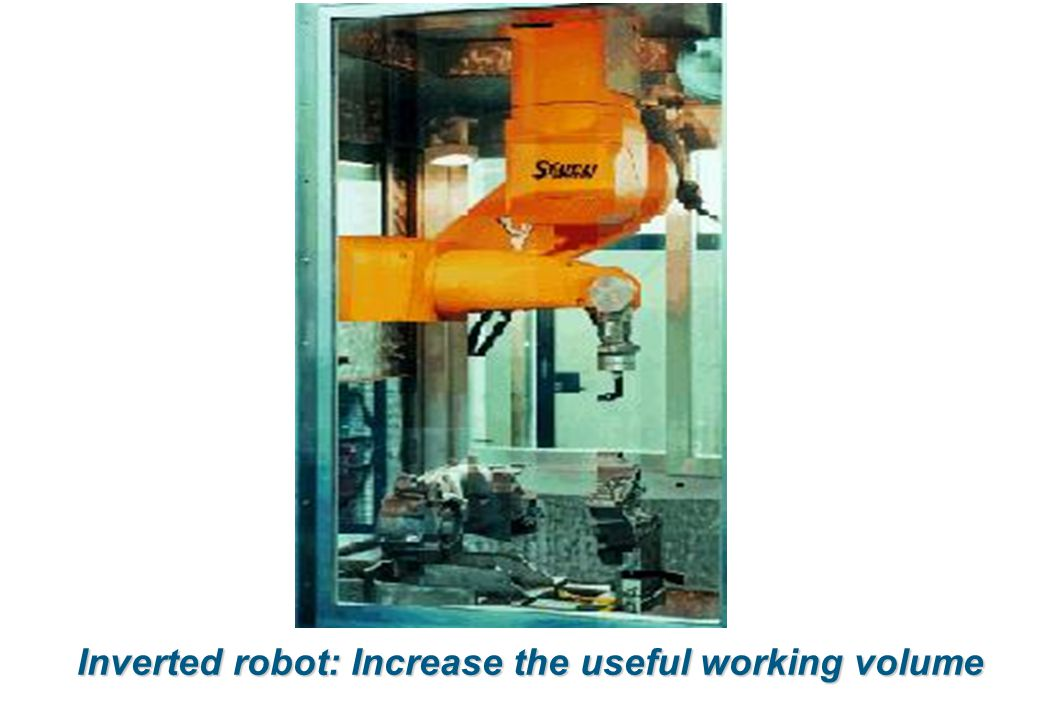 Inverted robot: Increase the useful working volume