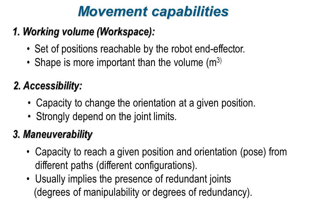 Movement capabilities