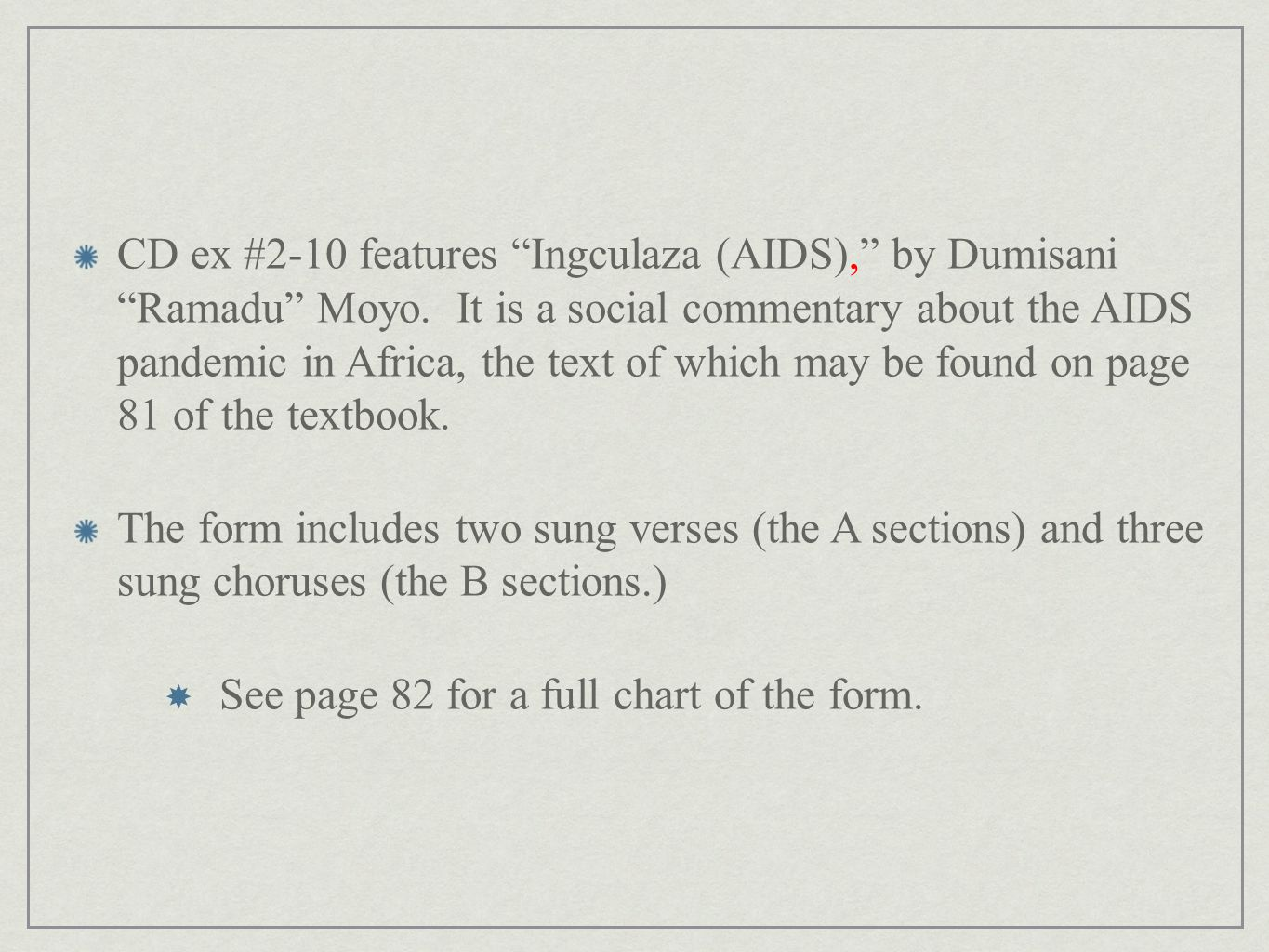 CD ex #2-10 features Ingculaza (AIDS), by Dumisani Ramadu Moyo