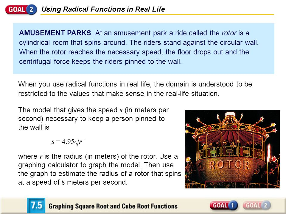 Using Radical Functions in Real Life