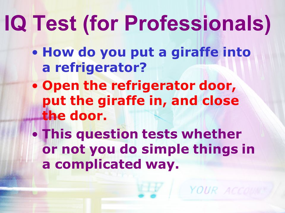 IQ Test (for Professionals)