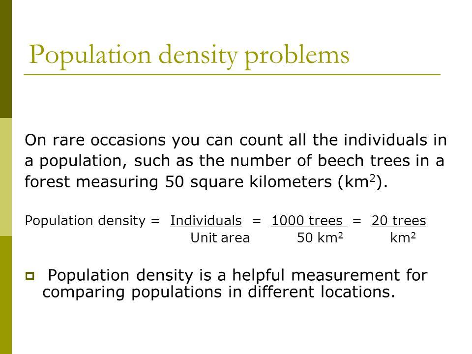 Population density problems