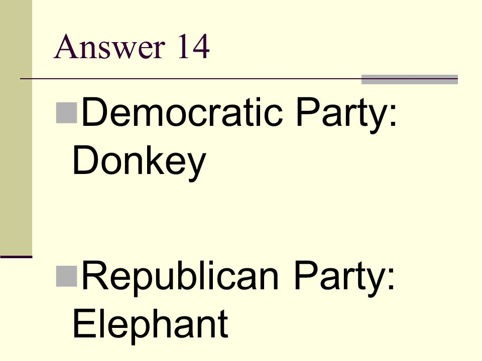 Democratic Party: Donkey