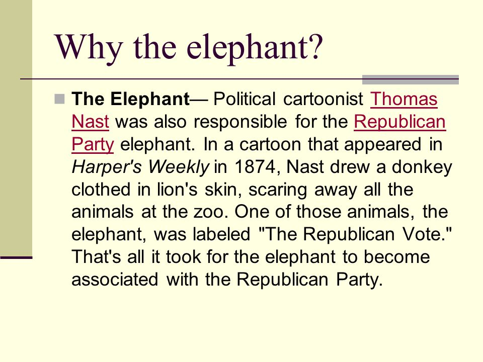 Why the elephant