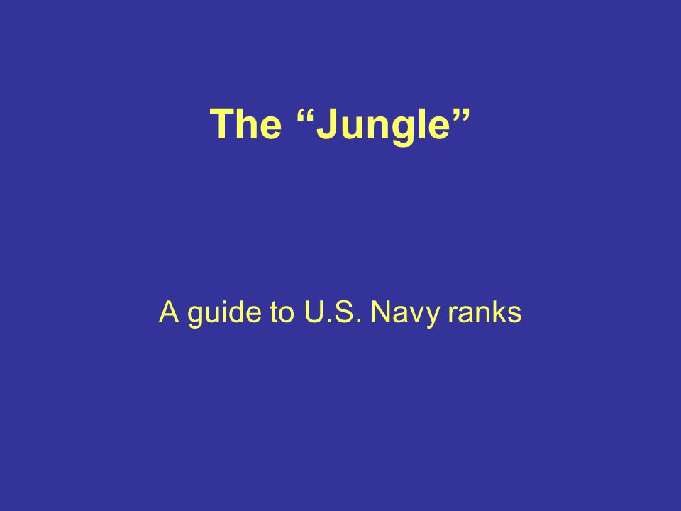 The Jungle A guide to U.S. Navy ranks