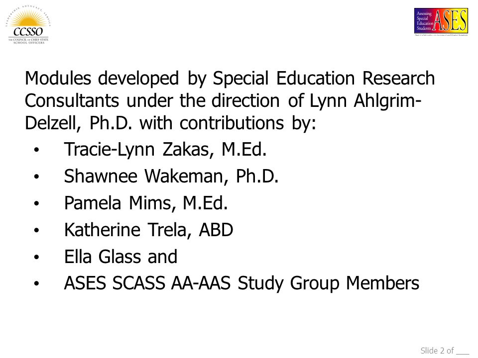ASES SCASS AA-AAS Study Group Members