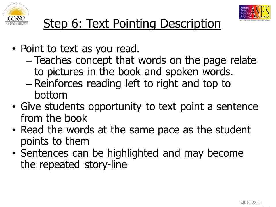 Step 6: Text Pointing Description
