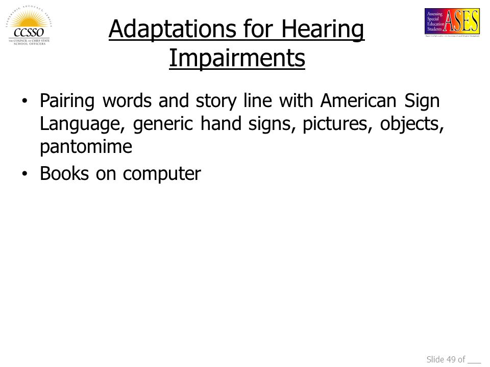 Adaptations for Hearing Impairments