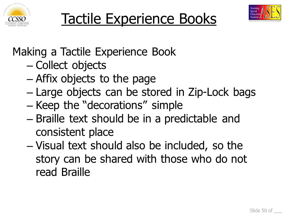 Tactile Experience Books