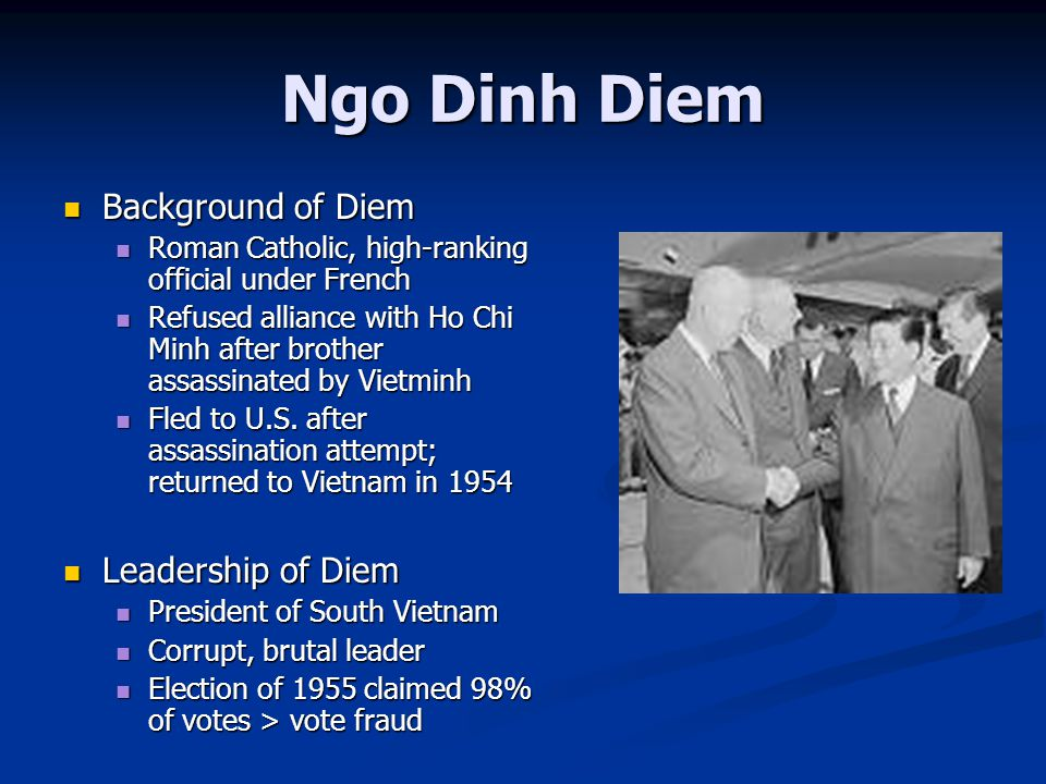 Ngo Dinh Diem Background of Diem Leadership of Diem