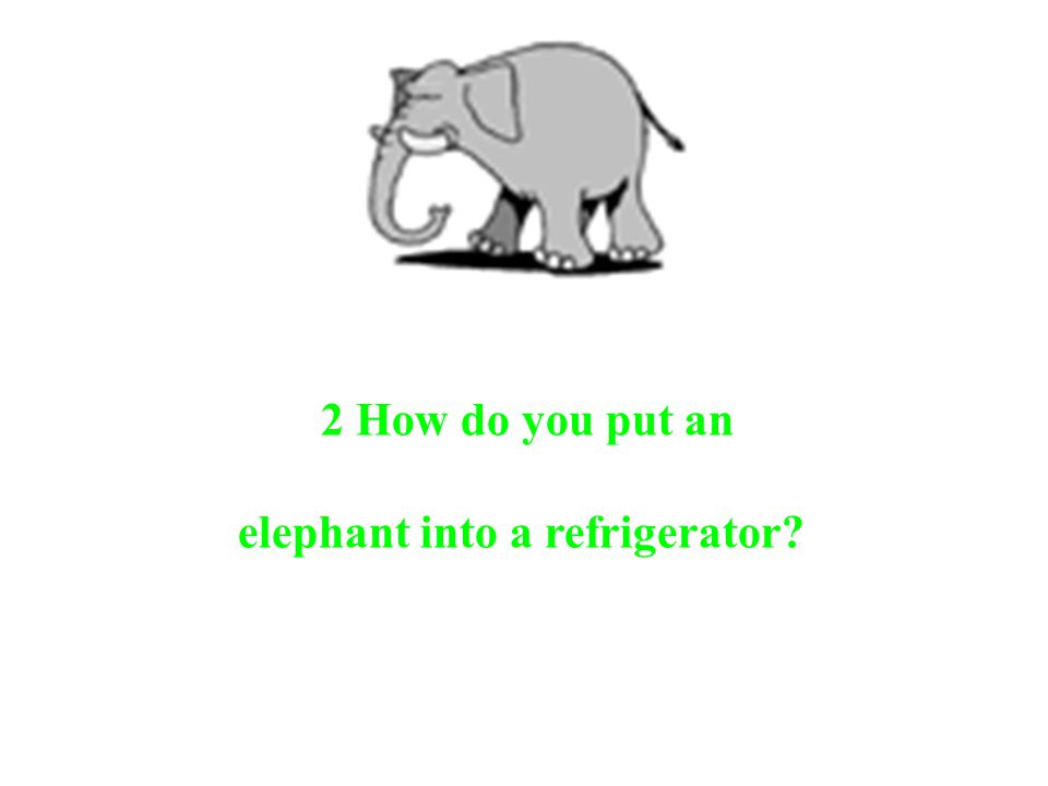 elephant into a refrigerator