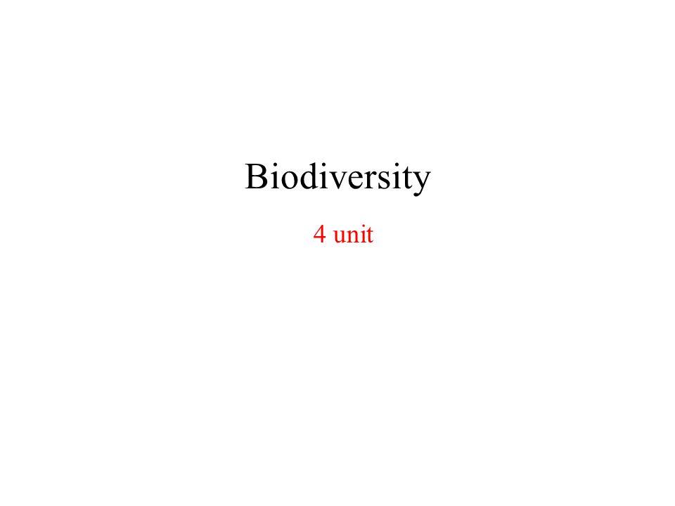Biodiversity 4 unit