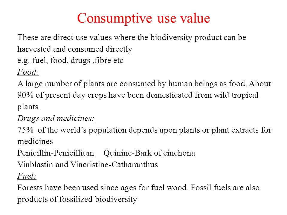 Consumptive use value