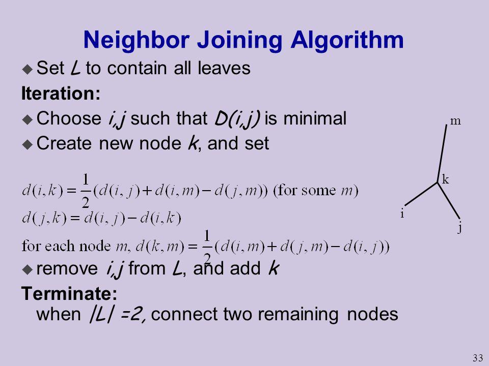 Neighbor Joining Algorithm