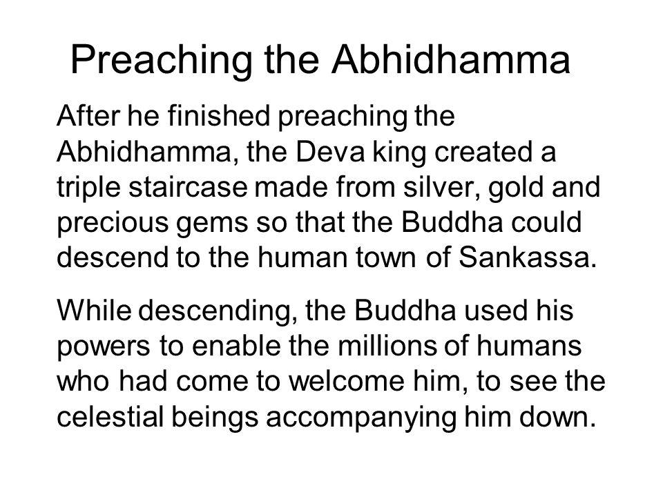 Preaching the Abhidhamma