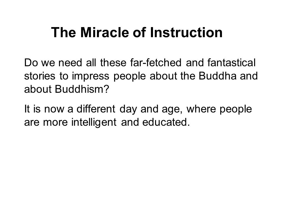 The Miracle of Instruction