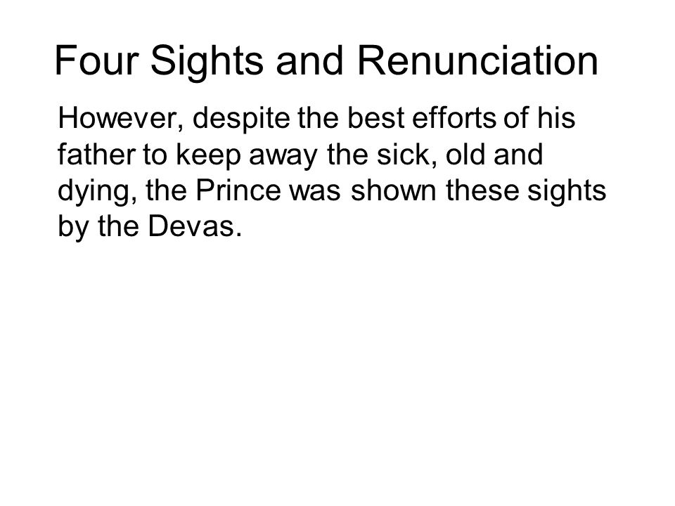 Four Sights and Renunciation