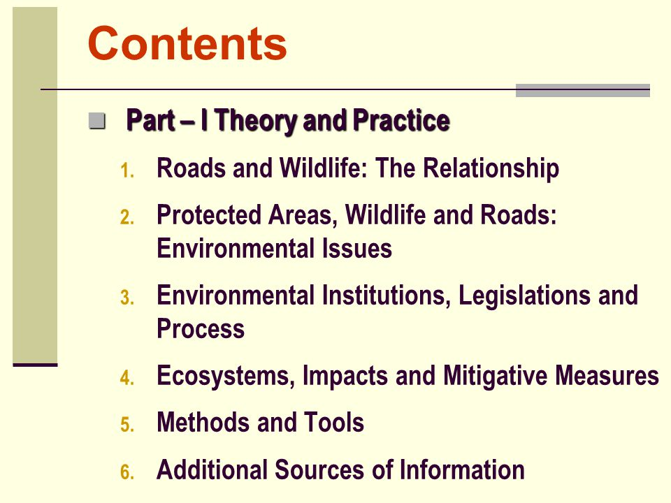 Contents Part – I Theory and Practice