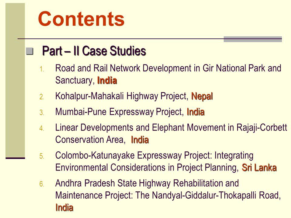 Contents Part – II Case Studies