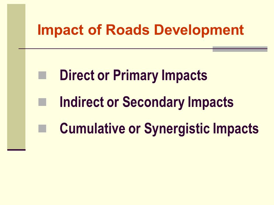 Impact of Roads Development