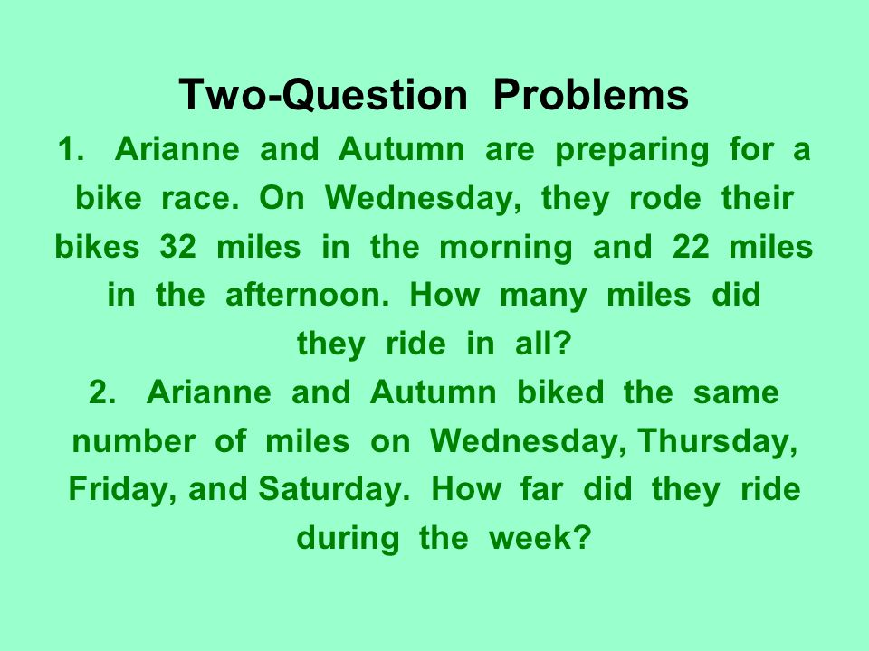 Two-Question Problems