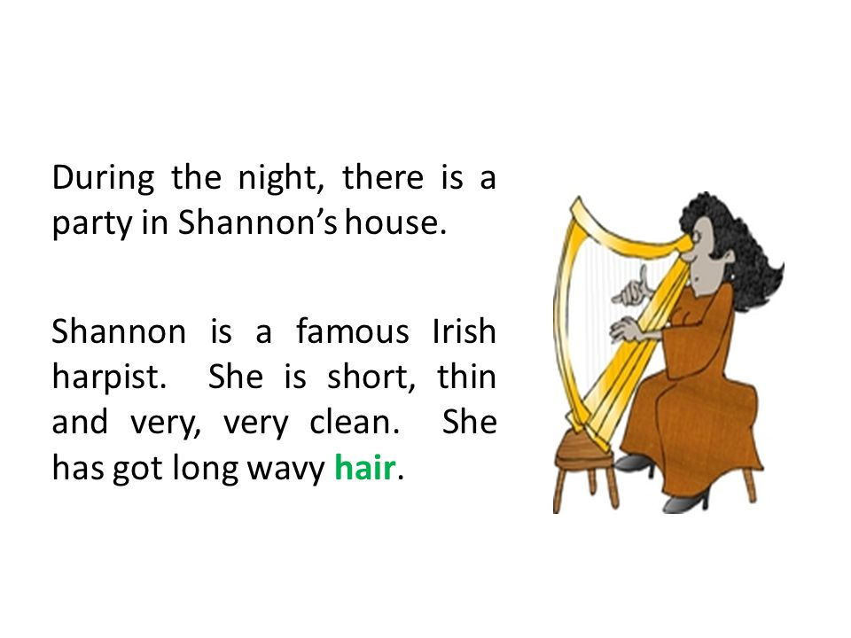 During the night, there is a party in Shannon's house