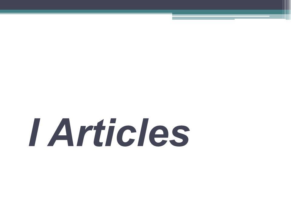 I Articles
