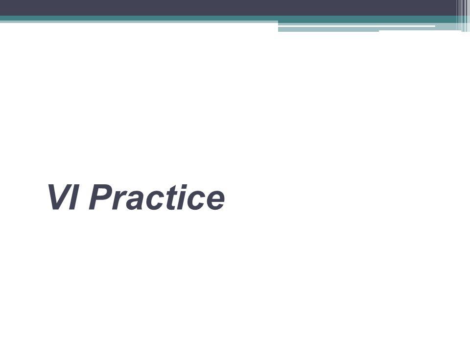 VI Practice