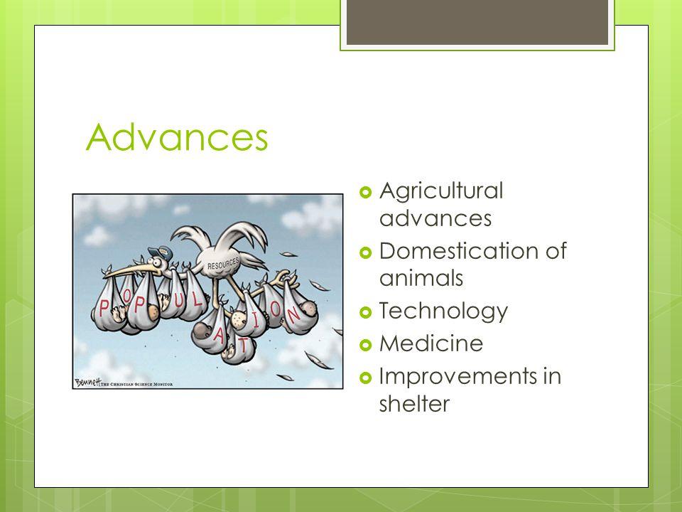 Advances Agricultural advances Domestication of animals Technology