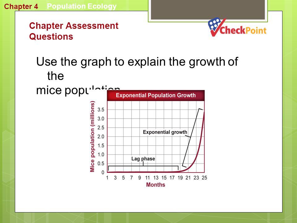 Use the graph to explain the growth of the mice population.