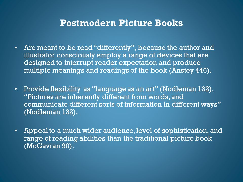 Postmodern Picture Books