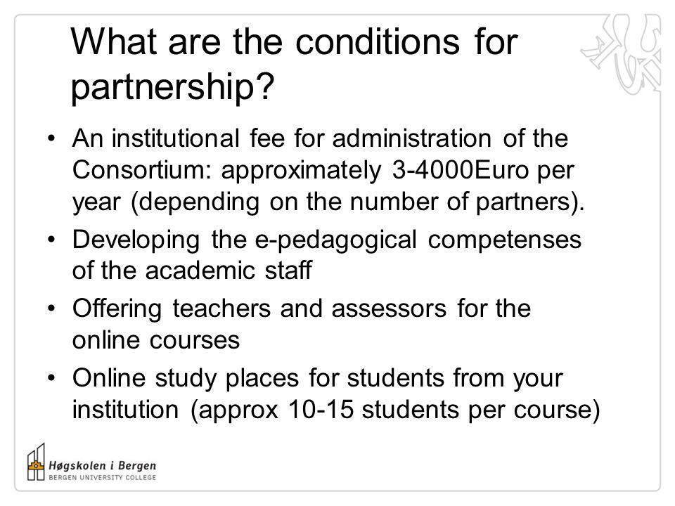 What are the conditions for partnership