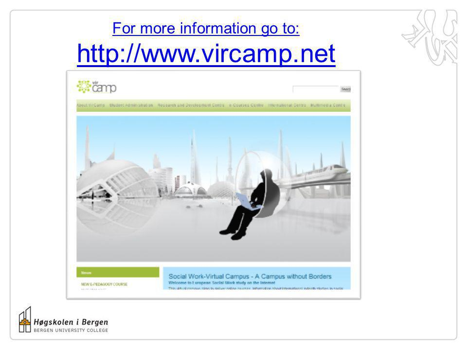 For more information go to: http://www.vircamp.net