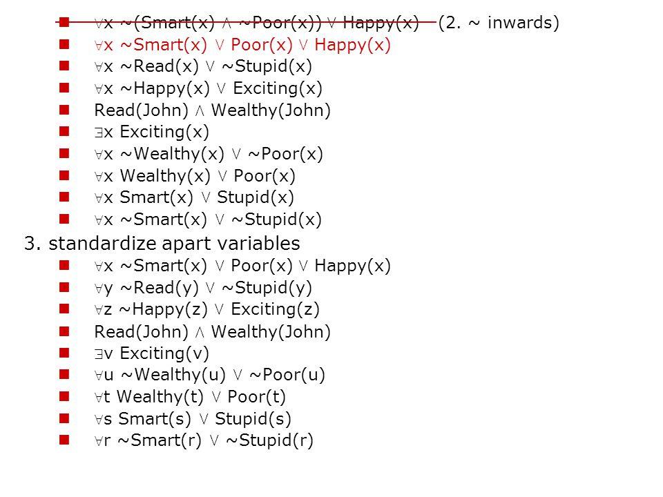 3. standardize apart variables