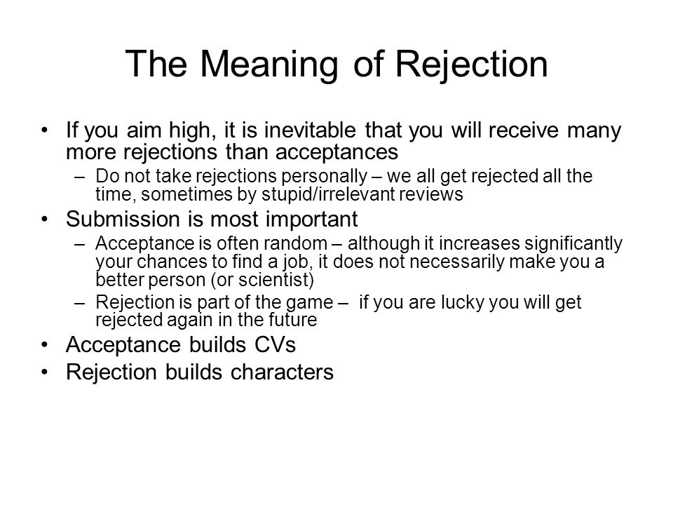 The Meaning of Rejection