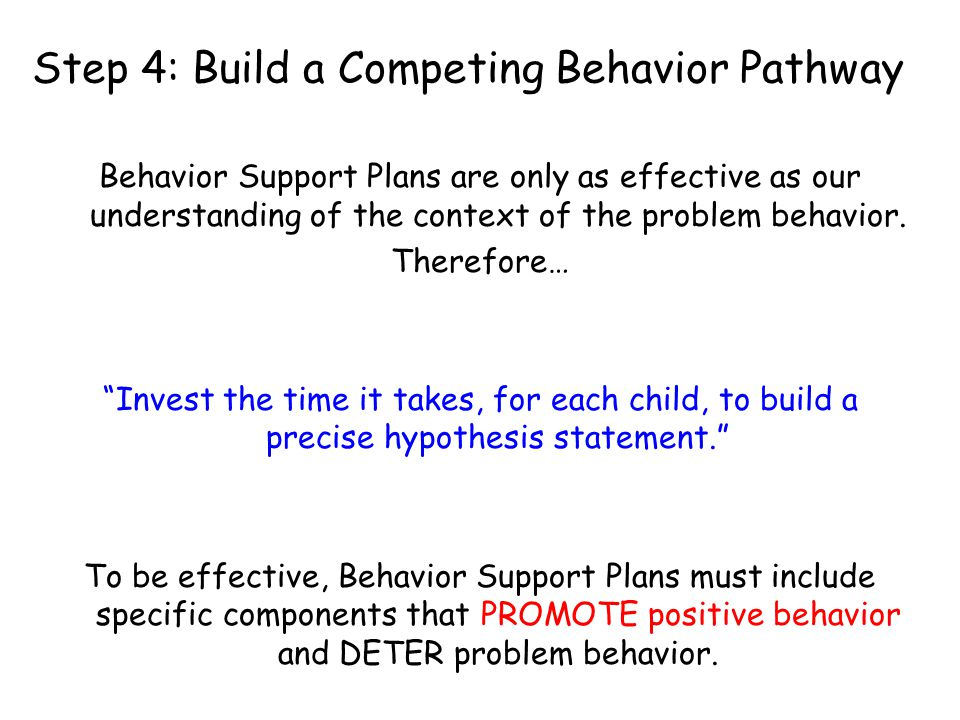 Step 4: Build a Competing Behavior Pathway