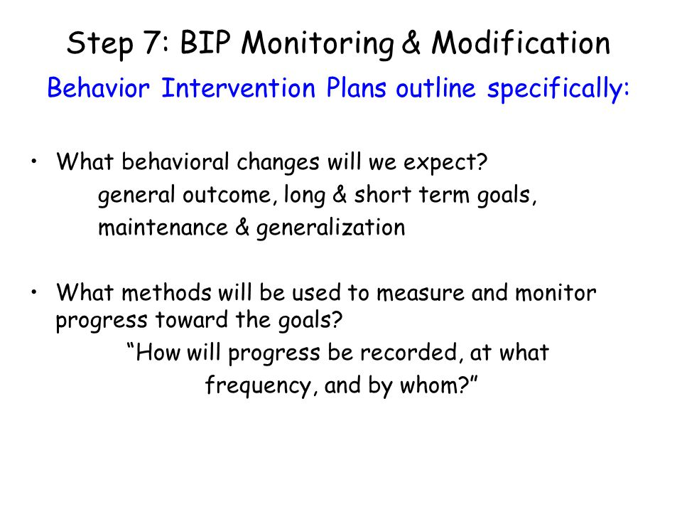 Step 7: BIP Monitoring & Modification