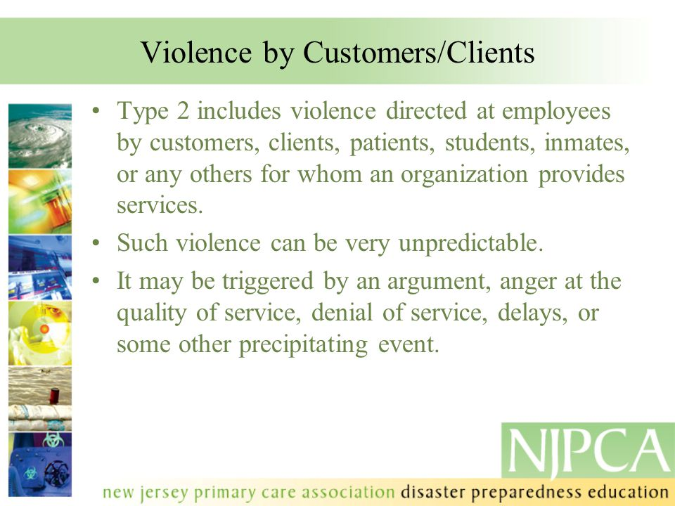 Violence by Customers/Clients