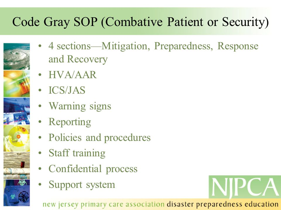 Code Gray SOP (Combative Patient or Security)